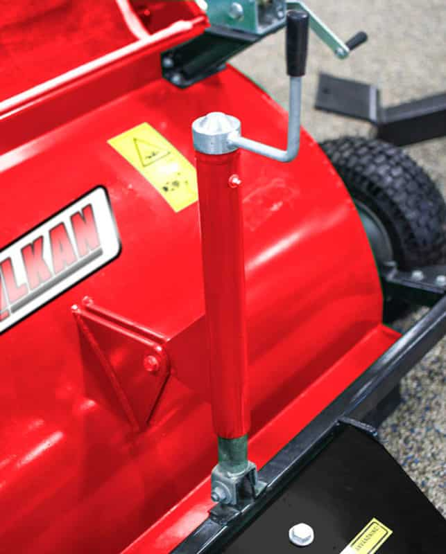 Detail Balayeuse ramasseuse pour quad BR120