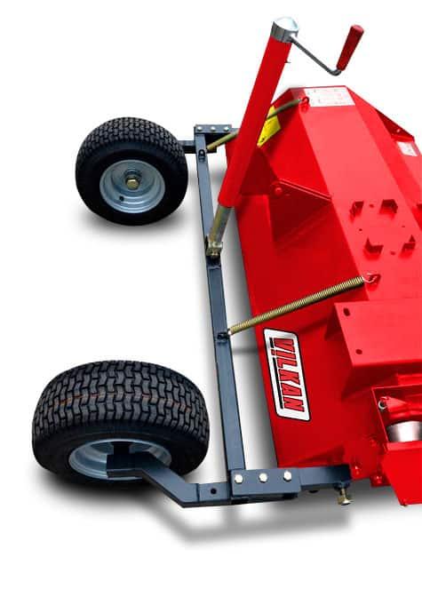 Détail roues arrières broyeur quad Vilkan