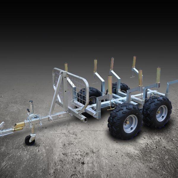 Remorque bois pour quad  – 1 000 kg