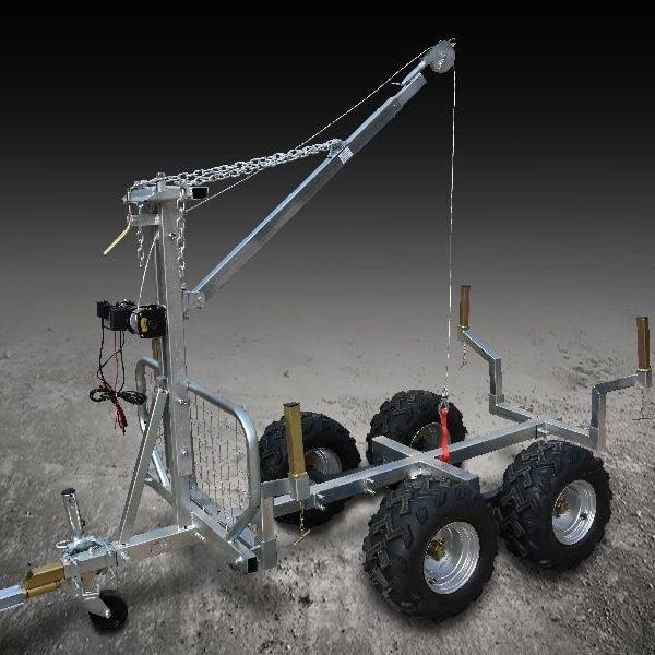 Remorque Forestière Quad- Capacité : 1 000 kg